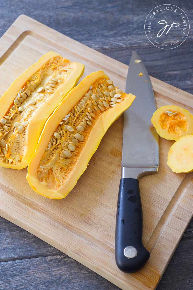 Clean Eating Roasted Maple Pumpkin Spice Delicata Squash Recipe