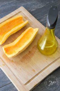 Clean Eating Roasted Maple Pumpkin Spice Delicata Squash Recipe