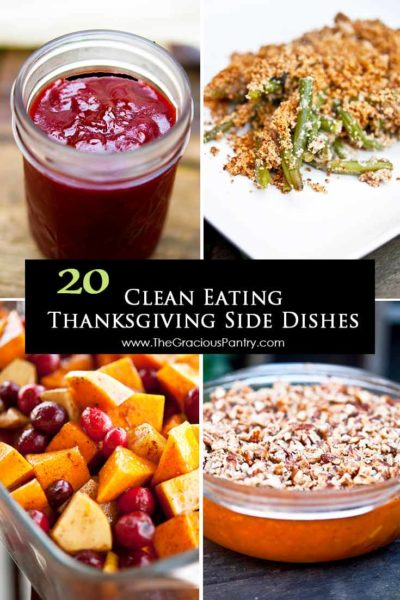 20 Clean Eating Thanksgiving Side Dishes