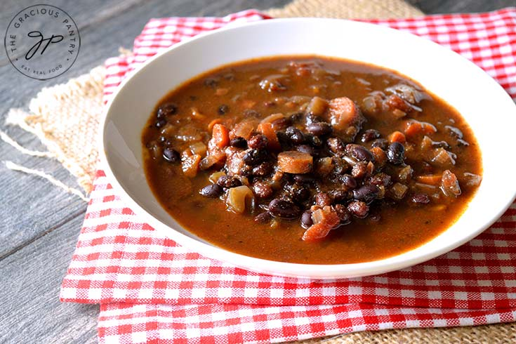 Clean Eating Instant Pot Black Bean Vegetable Soup Recipe