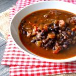 Clean Eating Instant Pot Black Bean Vegetable Soup Recipe