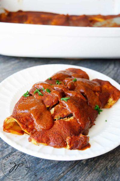Clean Eating Black Bean Enchiladas Recipe