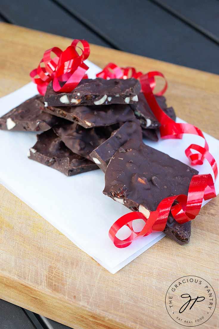 Clean Eating Chocolate Bark Recipe
