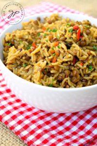 Lentils And Rice Recipe (Instant Pot Recipe)