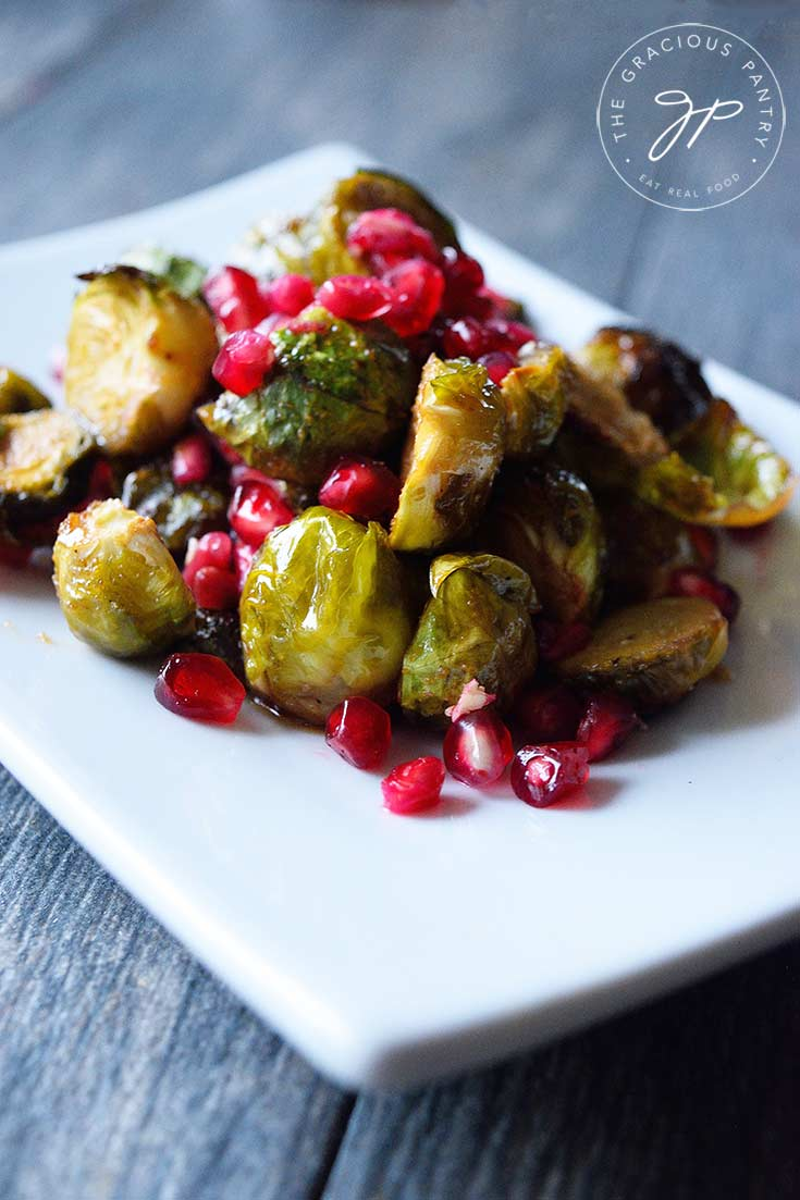 Clean Eating Maple Roasted Brussels Sprouts Recipe