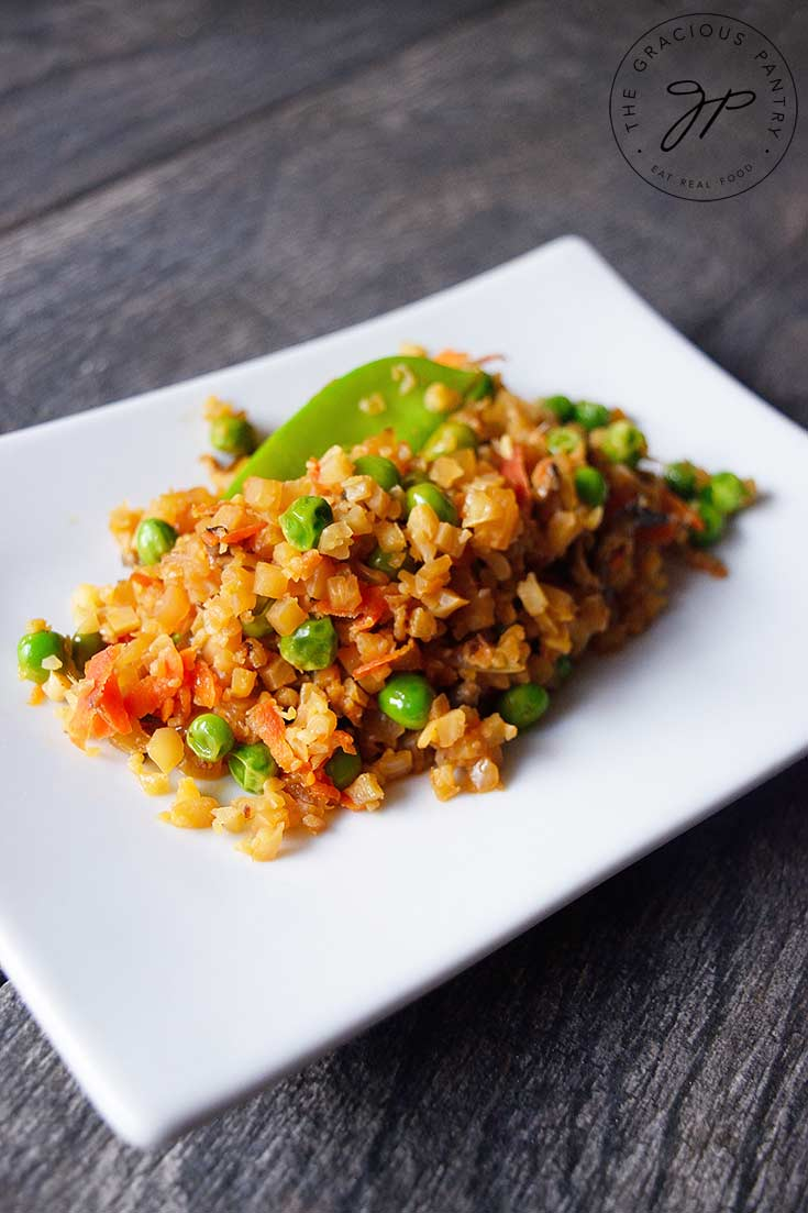 Clean Eating Fried Cauliflower Rice Recipe