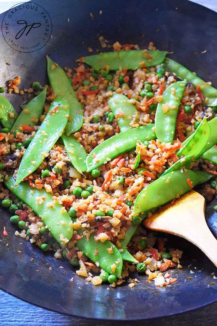 Clean Eating Fried Cauliflower Rice Recipe