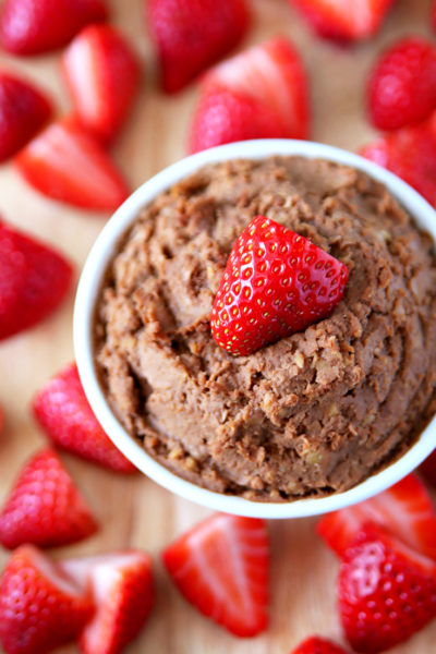Clean Eating Chocolate Peanut Butter Hummus Recipe