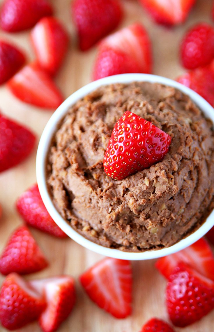 Clean Eating Chocolate Peanut Butter Hummus Recipe