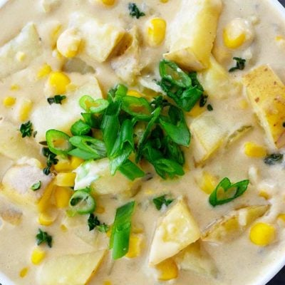 Clean Eating Potato Corn Chowder Recipe (Dairy Free!)