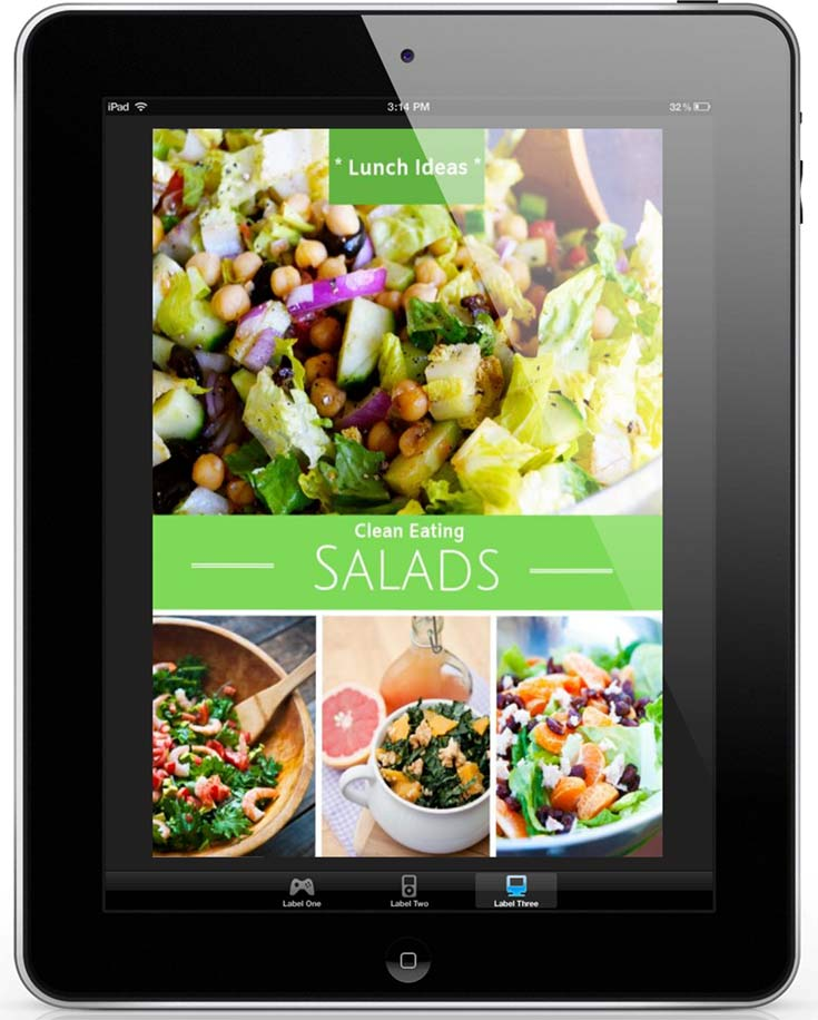 An image of the cover of this Clean Eating Salads eCookbook