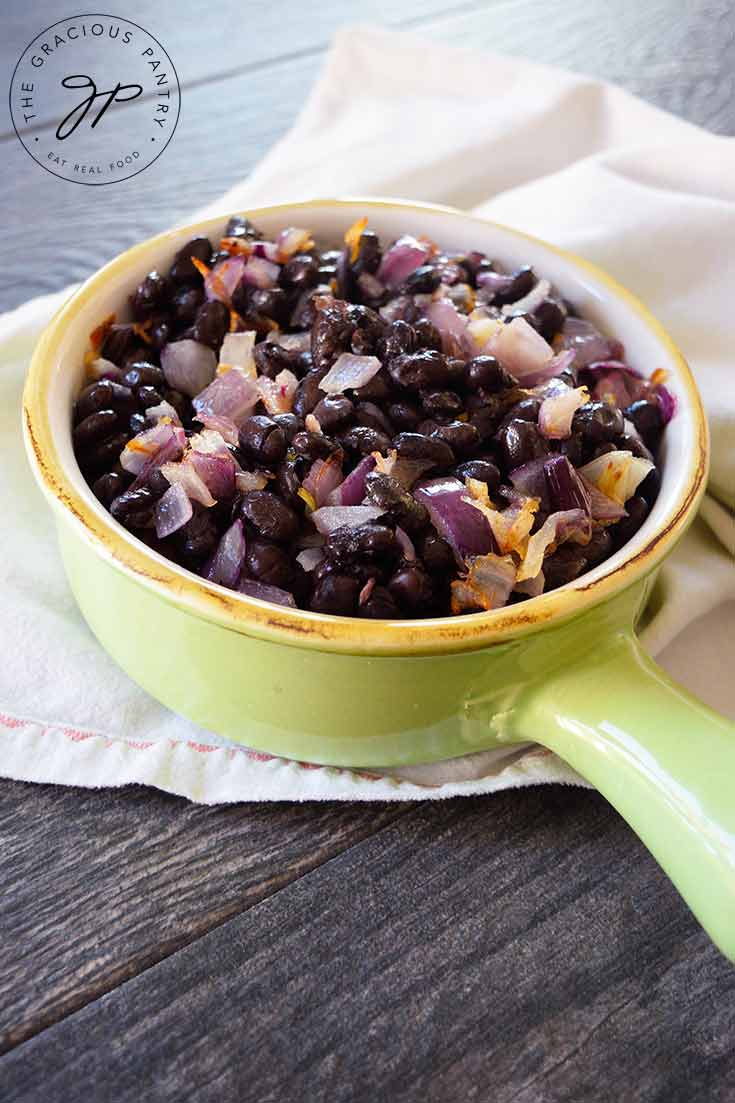 Clean Eating Buttered Black Beans Recipe