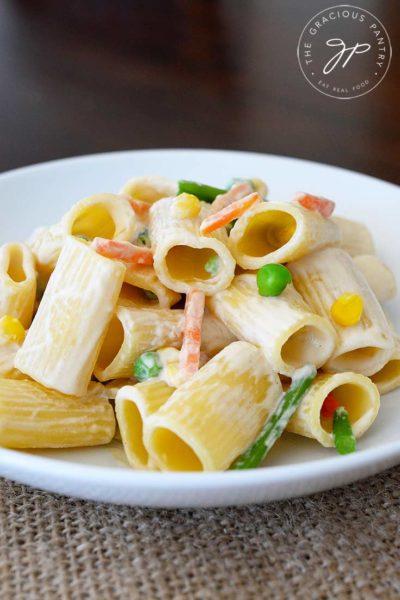 Clean Eating Creamy Vegetable Pasta Recipe