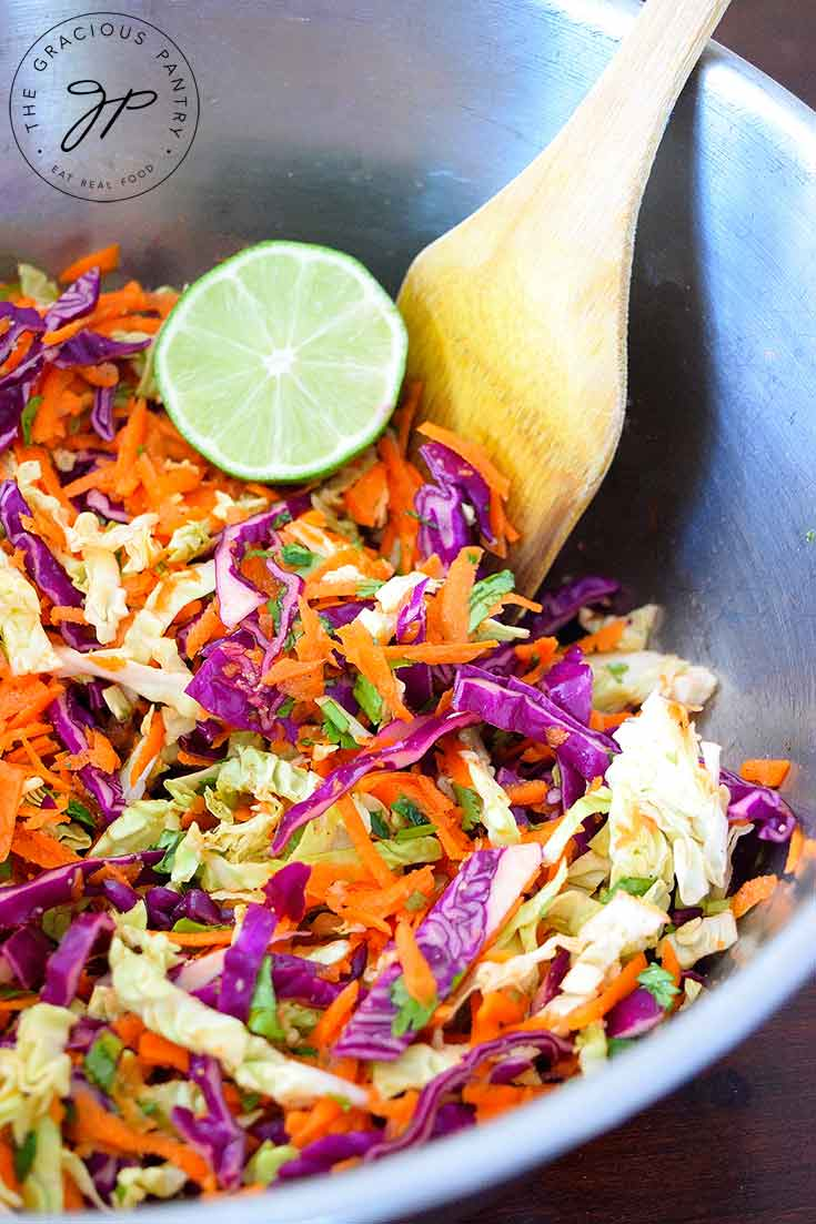 Clean Eating Mexican Coleslaw Recipe