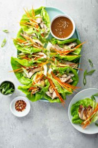 A collection of clean eating lettuce wrap recipes.