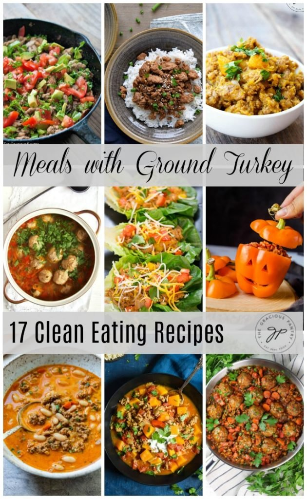 photo collage-meals with ground turkey
