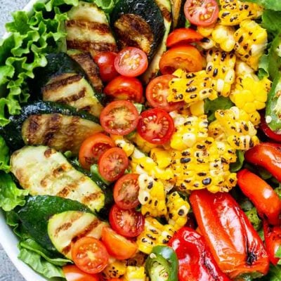 Clean Eating Grilled Garden Salad Recipe