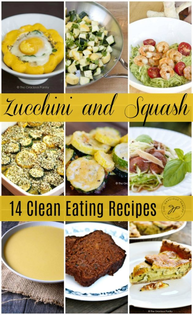 zucchi and squash recipes collage