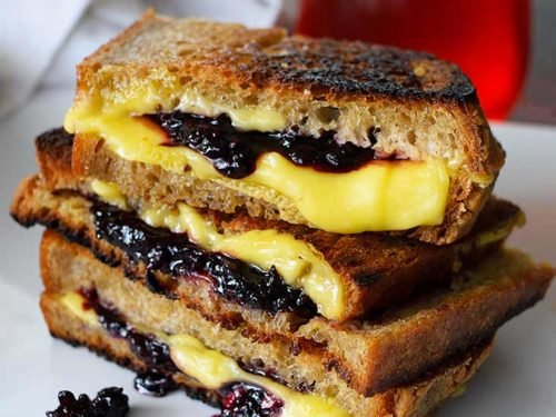 Grilled Cheese Sandwich Recipe With Blackberries The Gracious Pantry