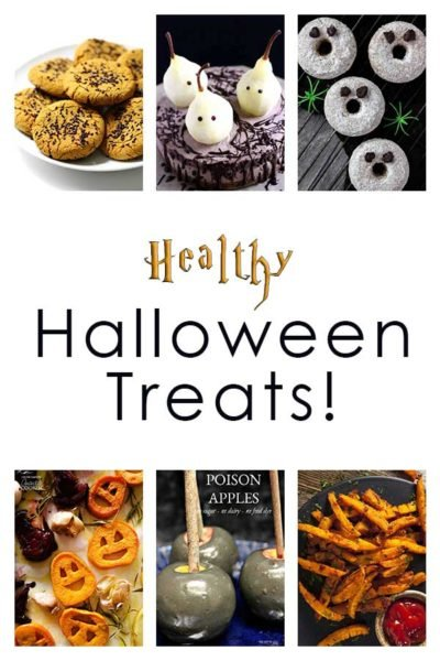 A collage of Healthy Halloween Treats!