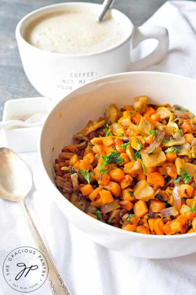 Sweet Potato Breakfast Scramble With Seitan