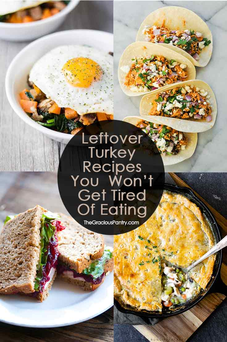Recipes For Turkey Leftovers That You Won't Get Tired Of Eating!