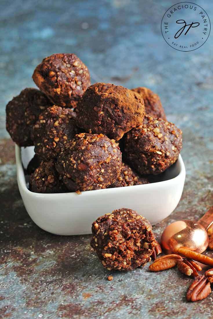 A whole food, Rum Balls Recipe for the holidays!
