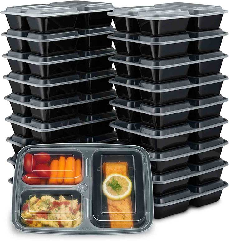 Meal Prep 101 - A stack of plastic containers good for doing meal prep.
