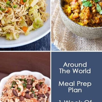 Around The World Dinner Meal Prep Plan