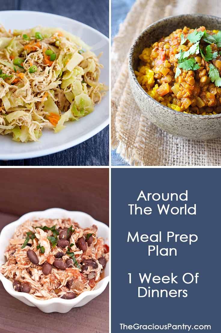 Around The World Dinner Meal Prep Plan