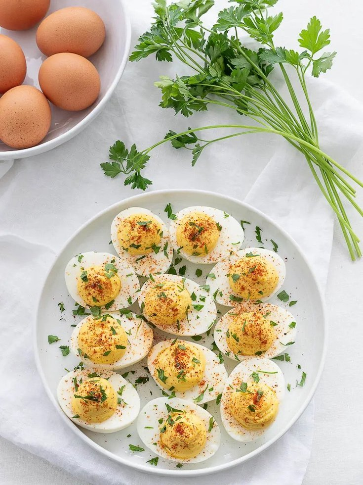 Classic Keto Deviled Eggs in this guide to 15 Clean Eating Easter Recipes