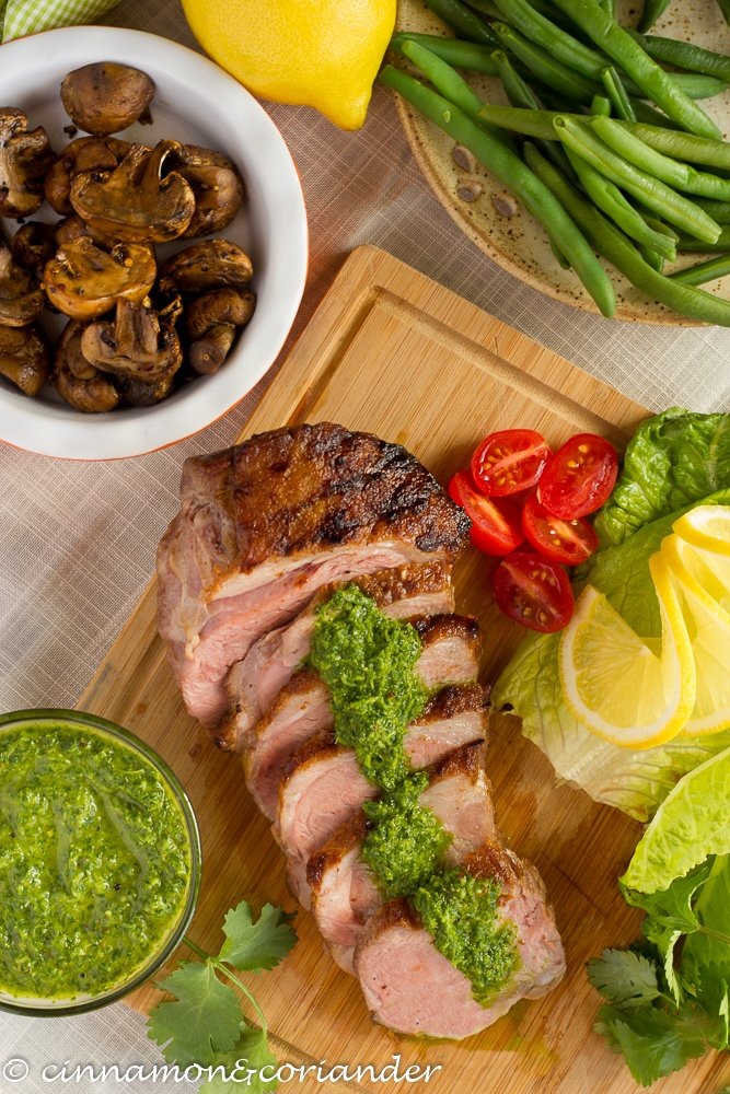 Lamb Sirloin with Chimichurry Sauce in this guide to 15 Clean Eating Easter Recipes