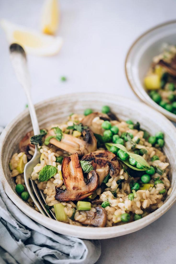 Vegan Risotto in this guide to 15 Clean Eating Easter Recipes