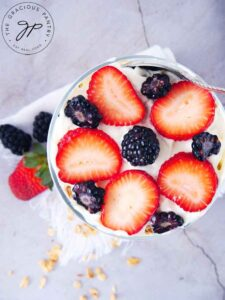 Last layer should be fruit.
