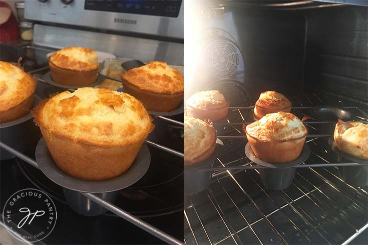 Popovers baking in the oven.