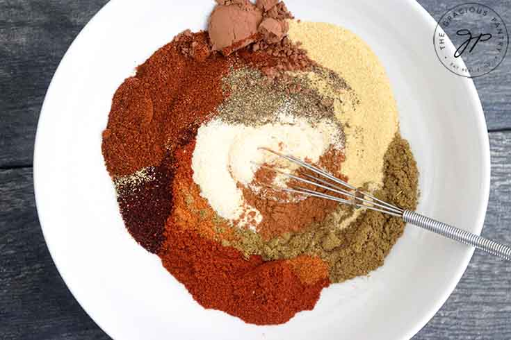 Step two is to whisk all the spices together until well combined.