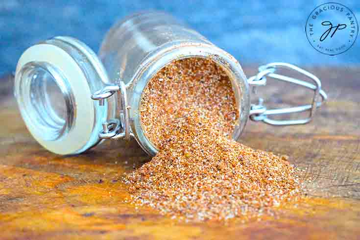 Step three is to store the Chili Spice in an air-tight container and store in your spice cabinet.