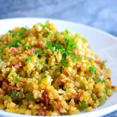 Dirty Rice Recipe (Cauliflower Rice)