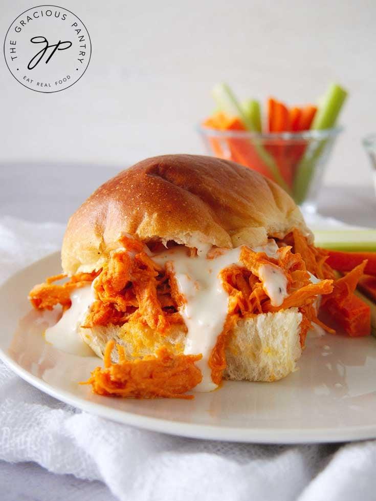 Buffalo Chicken Sandwiches (Instant Pot)