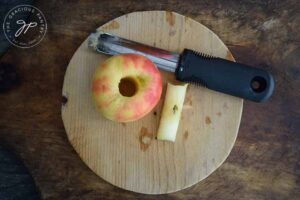step-1- Core your apples.