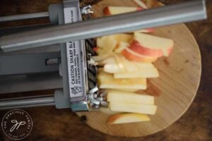 step-2- Cut your apples into fries.