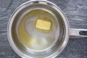 Melting butter in a pot