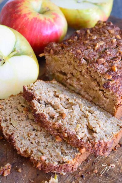 Apple Bread sliced and ready to serve.
