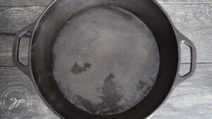 Bringing water to a boil in a large pot.