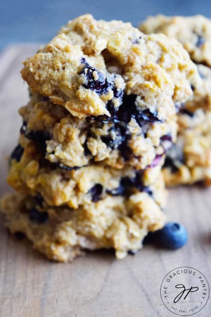 Fresh cookies made from this Breakfast Cookies Recipe have plenty of blueberries, a breakfast superfood.