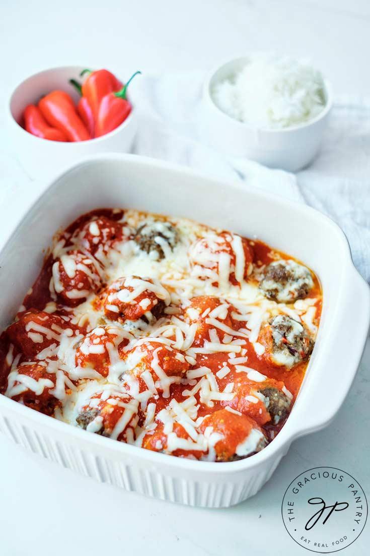 Cheesy Baked Meatballs Recipe