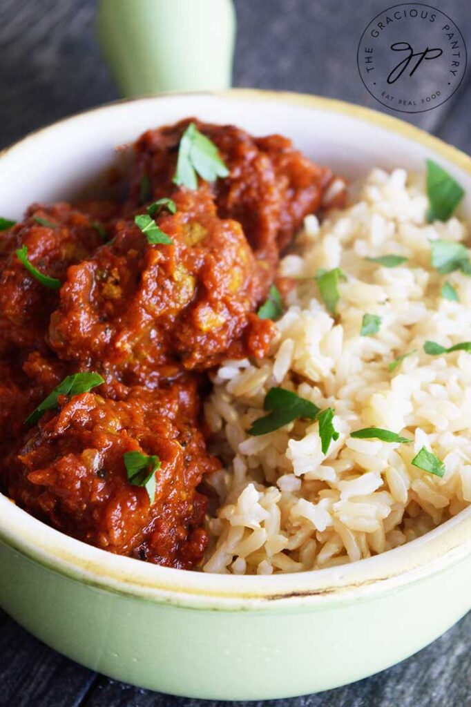 An up close shote of this Kofta Curry Recipe.