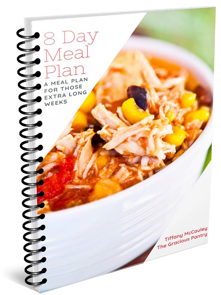 8 Day Meal Plan eBook Cover Image