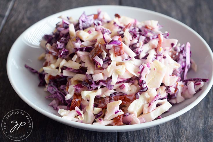 The finished cabbage salad recipe.