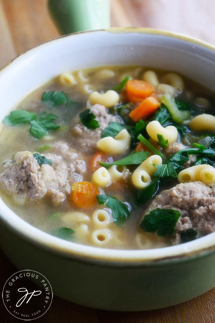 Healthy Italian Wedding Soup Recipe